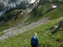 hiking in Hilda basin
