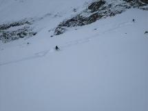 powder skiing at Hilda Hut
