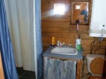 The sauna bathroom