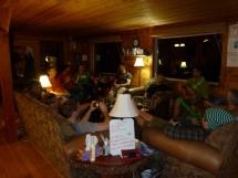relaxing at Valkyr Lodge