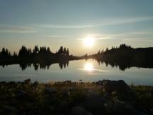 sunset on Naumulten Lake