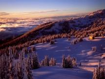 Alpen glow sunset