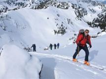 Valkyr Lodge ski touring terrain