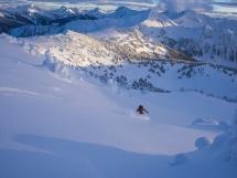 Heart Basin photo Steve Ogle, skier Andrew Findlay