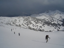Ski touring at Valkyr Lodge