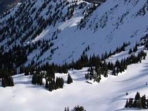 Backcountry skiing at Valkyr Lodge