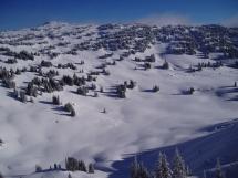 Ski terrain Valkyr Range