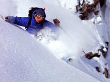 Chad Sayers skiing