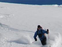 Powder skiing at Valkyr Lodge