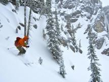 Hilda Hut ski terrain