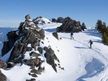 Exploring Valkyr Lodge ski terrain